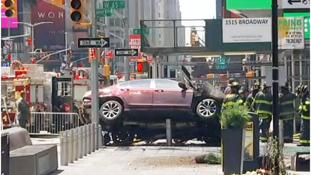 Car slams into pedestrians in Times Square