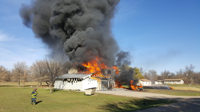 Rural fire claims rental home