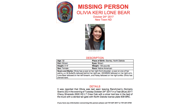 Greywind Family Joins Search for Olivia Lone Bear