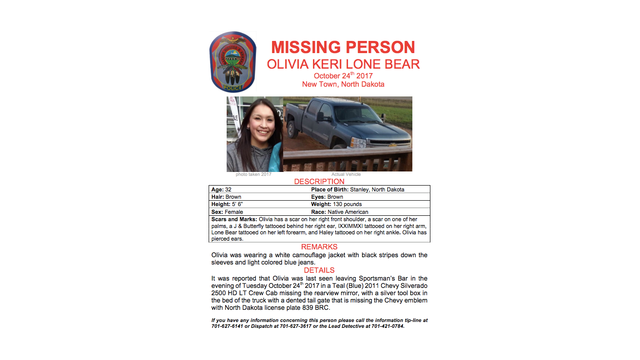 Authorities change last known location of Olivia Lone Bear