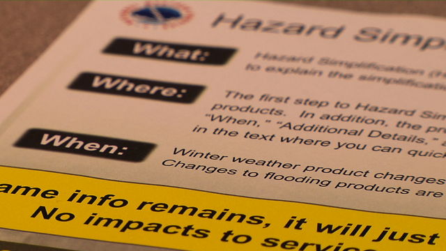 National Weather Service Simplifies Weather Watches and Warnings
