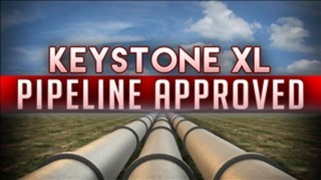 New Keystone pipeline route approved