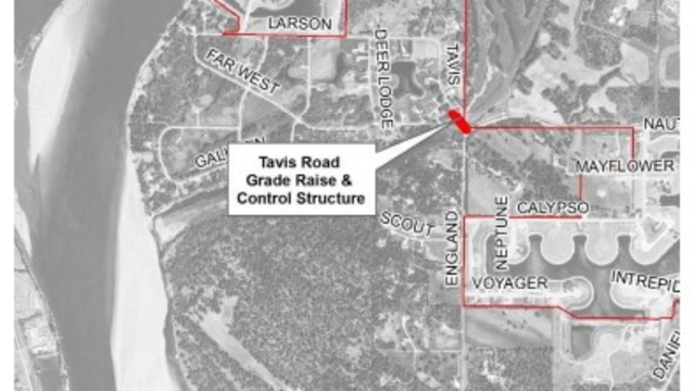 Burleigh County starts operating Tavis Flood Control Structure
