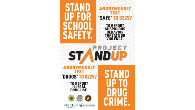 Anonymous text to tip platform, Project Stand Up, aims to enhance safety across ND
