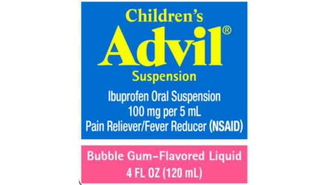 Some Childrens Advil Recalled By Pfizer Due To Overdose Fears