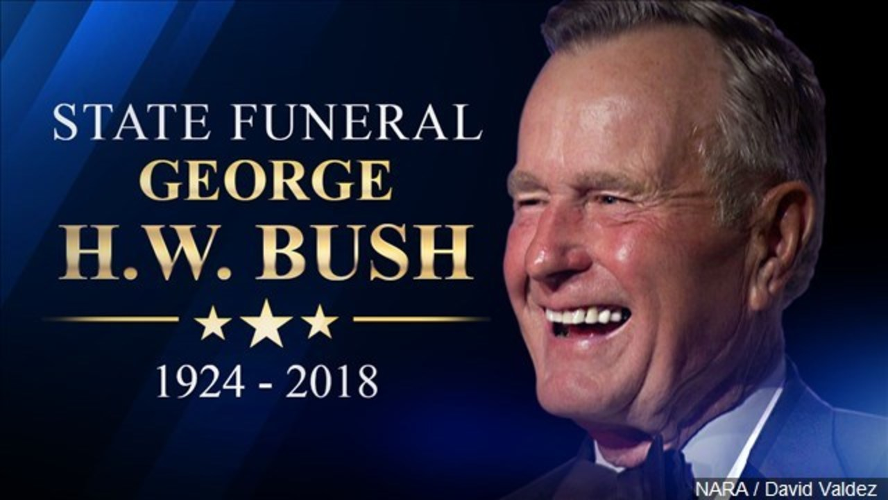Schedule For George H W Bush S Capitol Ceremony Funeral And Burial